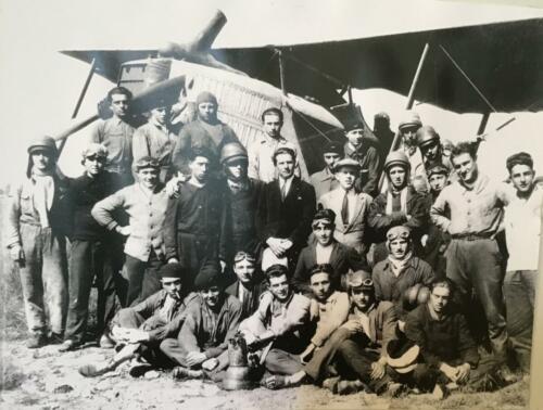 Pilotes de BR14 en formation en Syrie en 1927
