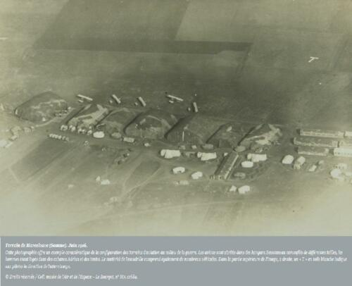 Aérodrome Marcelcave (Somme) juin 1916