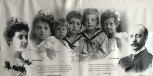 Antoine de Saint Exupéry enfant en famille